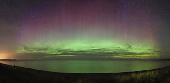 Aurora Photo captured by Shawn Malone of Lake Superior Photo just outside of Marquette, Michigan